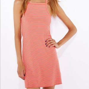 Topshop Pink Striped Square neck dress